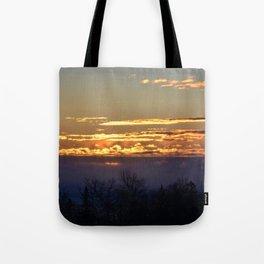 Sunrise over Lake Huron Tote Bag
