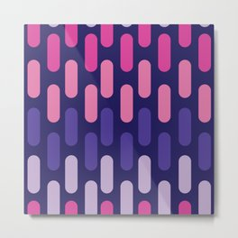 Colourful lines on navy background Metal Print