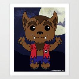 Mischievous Monsters - Wolfie Boy Digital Art Print