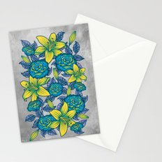 Flowers - Blue Stationery Cards