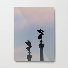 Vittoriano angels at sunset 1 Metal Print