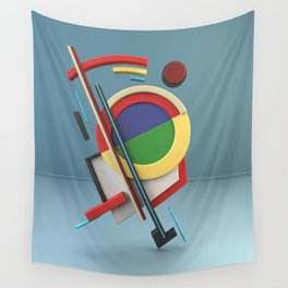 Constructivism & Suprematism in the style of Ivan Kliun (1 of 9) Wall Tapestry