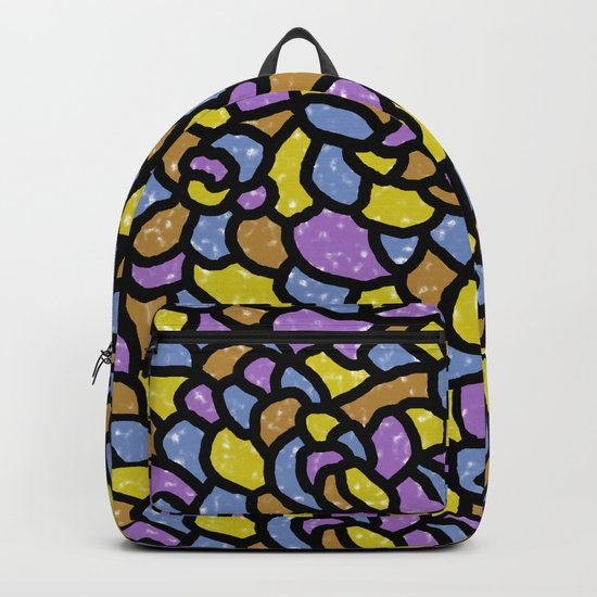 Mosaic Tiles Random Shaped Backpack