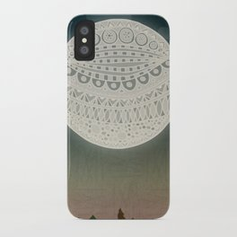 Light up the moon iPhone Case