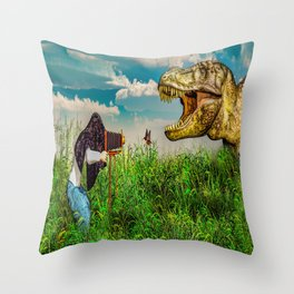 Wildlife Photographer Photo Bomb Throw Pillow