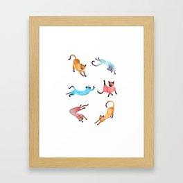 Playful Cats Framed Art Print