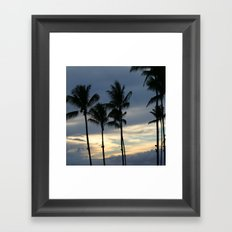 Maui: Sunset Framed Art Print