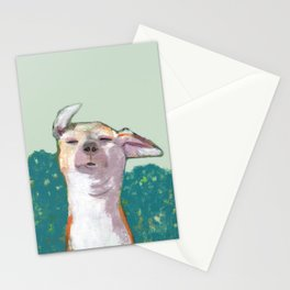 Dog in Wind Stationery Cards