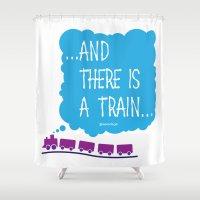train Shower Curtains featuring TRAIN by Alberto Lamote de Grignon
