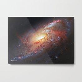 Hubble Telescope: M106, NGC 4258 Metal Print