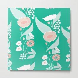 Petite green motif Metal Print