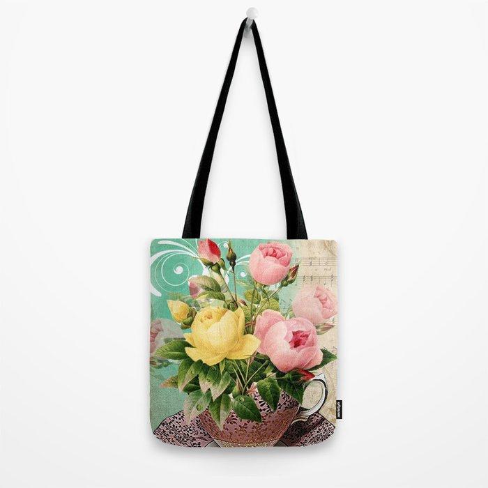 Tea Flowers #2 Tote Bag