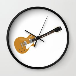Gold Electric Guitar Wall Clock