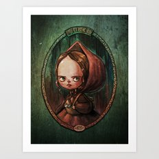Little Red Riding Hood - the portrait of a girl Art Print