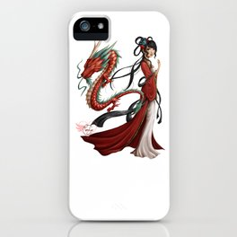 Chinese dragon pure iPhone Case