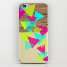 Wood Triangles iPhone & iPod Skin