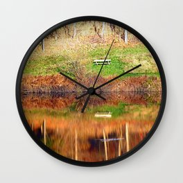 Water reflections on the river | waterscape photography Wall Clock