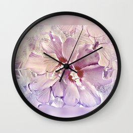 Delicate Floral Wall Clock