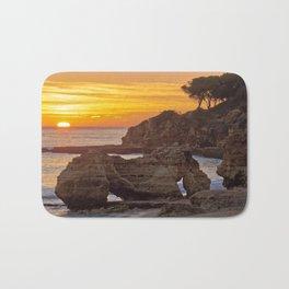 Olhos d'Agua, sunset rocks Bath Mat