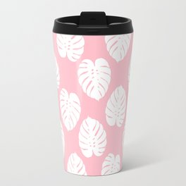 Basic monstera hipster house plant leaf tropical vibes for home decor office dorm room Travel Mug