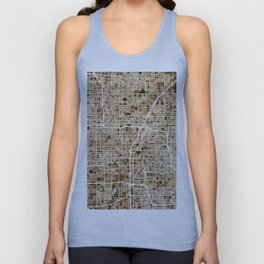 Las Vegas City Street Map Unisex Tank Top