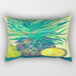 Pear and Pineapple Rectangular Pillow