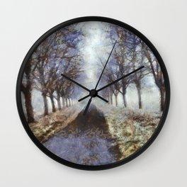 Bord de Saône en Hiver Wall Clock