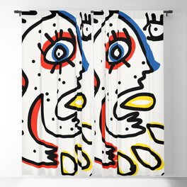 Graffiti French Art Summer Street Blackout Curtain