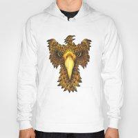 phoenix Hoodies featuring Phoenix by J Bradford Illustration