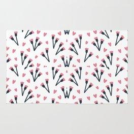 Modern Lovely Flower Pattern Art Rug