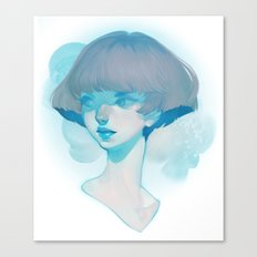 visage - blue Canvas Print