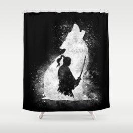 The Lone Samurai Shower Curtain