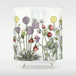 Medley of garden flowers Shower Curtain