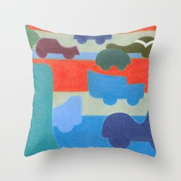 Stuck on the Slowlane Throw Pillow