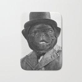 Sir Winston Pug Churchill Bath Mat