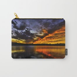 ice and Fire Sunset over Boston , MA Carry-All Pouch