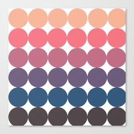 Spring Neutral Circle Pattern Canvas Print