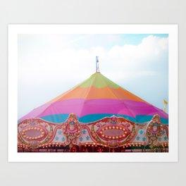 Rainbow Carousel Tent Art Print