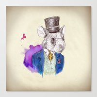 hamster Canvas Prints featuring hamster by Amit Shimoni