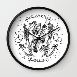 patisserie power Wall Clock