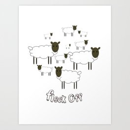 Flock Off Art Print