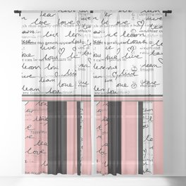 Home Work, Scribbles & Stripes Sheer Curtain