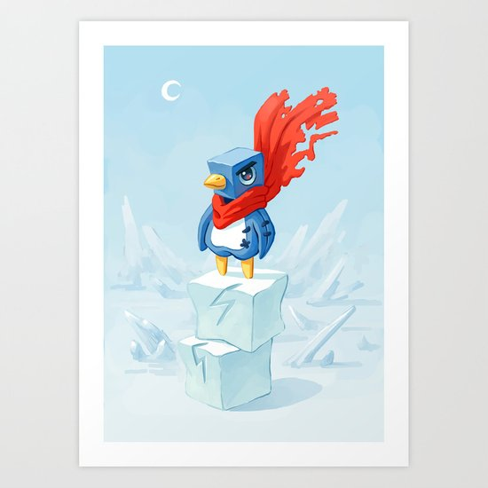 Super Penguin Art Print