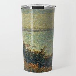 Hudson River, New York by Georges Seurat Travel Mug