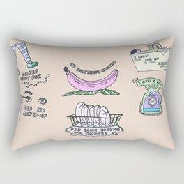Self Credit Credits Rectangular Pillow