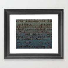Music Sheet Framed Art Print