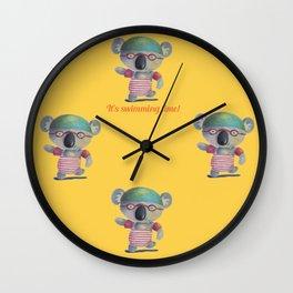 Swimming Time Wall Clock