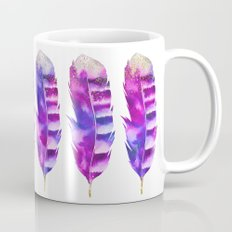 Pink Feathers watercolor painting Mug