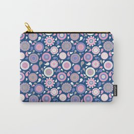 Midnight floral Carry-All Pouch