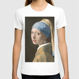 Johannes Vermeer - Girl with the pearl earring (1665) T-shirt